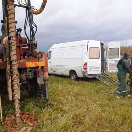 Ģeotehniskā izpēte - urbšana un CPT zondēšana